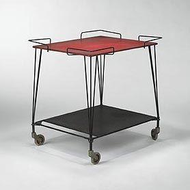 Mathieu Mategot, table roulante , 1950's