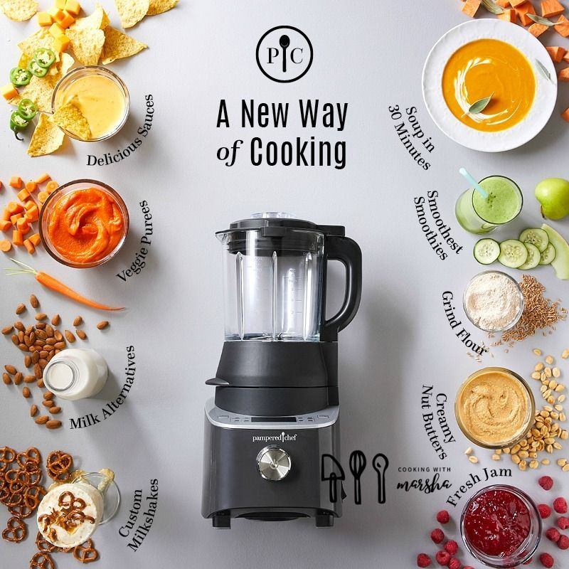 New Pampered Chef Deluxe Cooking Blender You Will Love This Pampered Chef Consultant Pampered Chef Pampered Chef Recipes