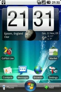 Download free Windows Se7n Clock Android Theme Mobile Theme HTC