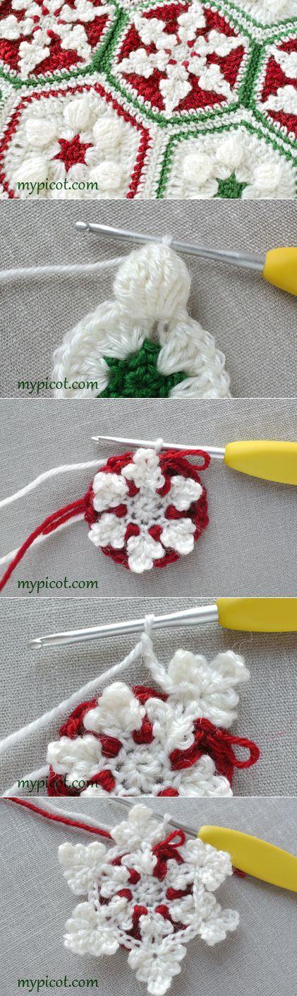 MyPicot   Free crochet patterns   Natal   Pinterest   Edredones y Manta