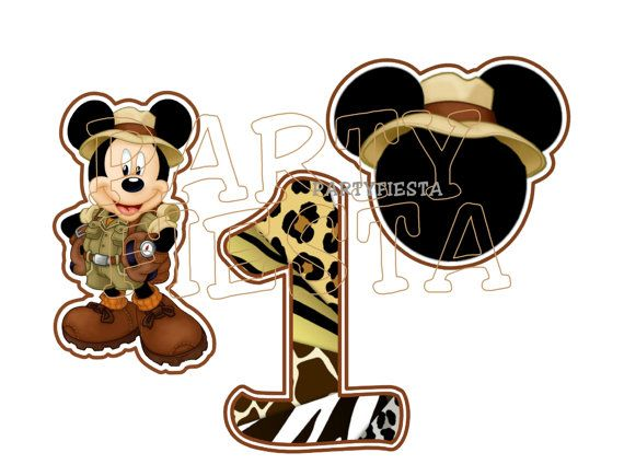 Inspired Mickey Mouse Safari wild Jungle by PartyFiesta on Etsy ...