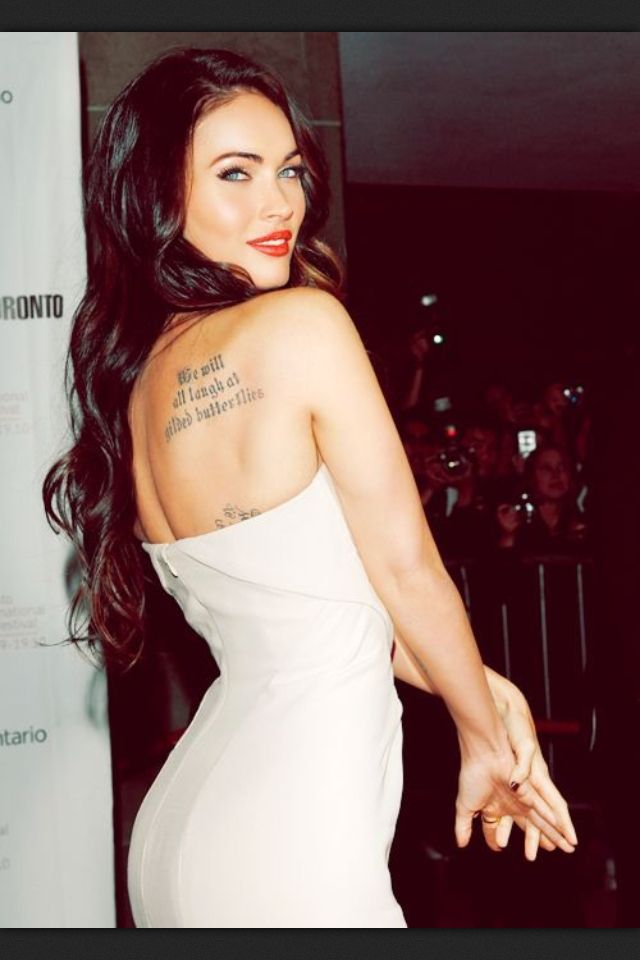 Megan Fox Celebrities Female Megan Fox Megan Fox Tattoo