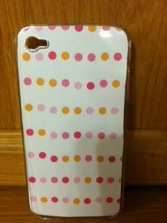 Orange and Pinks in this Background with case for iPhone 4/4s is $10.00  -MK Creations