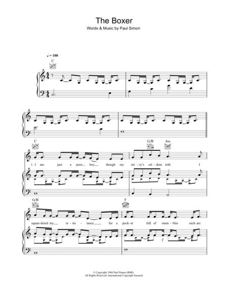 The Boxer | Muzyka | Pinterest | Digital sheet music, Mumford sons ...