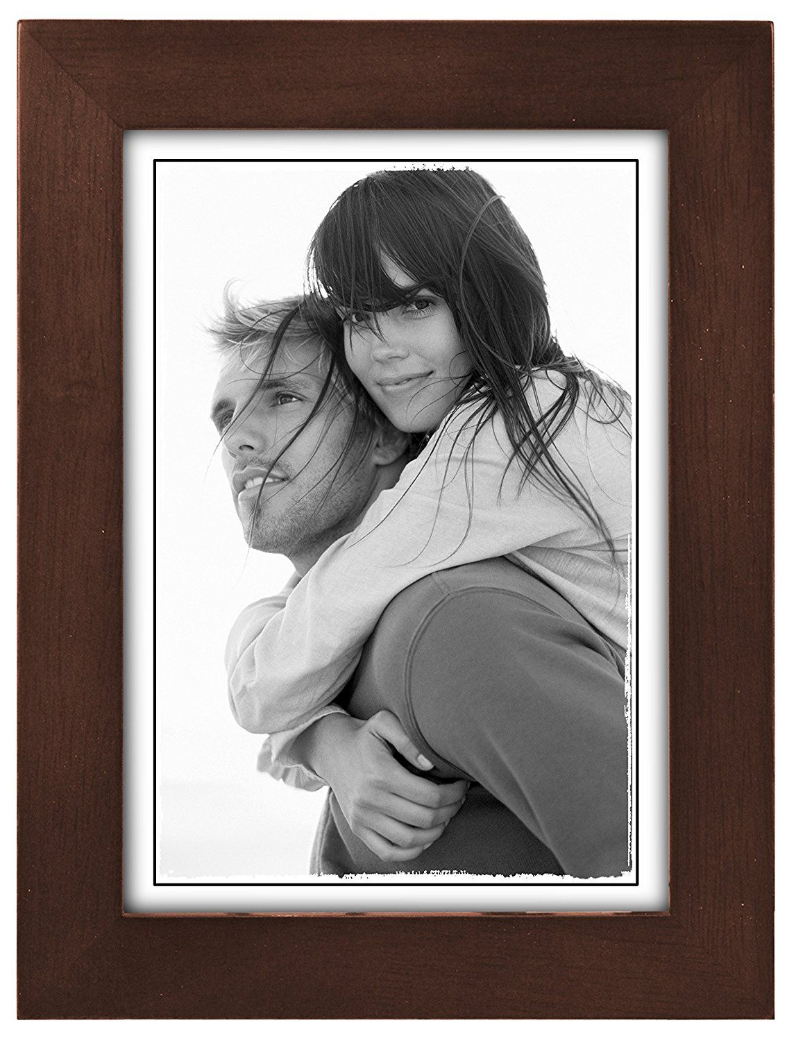 Malden International Designs Matted Linear Classic Wood Picture