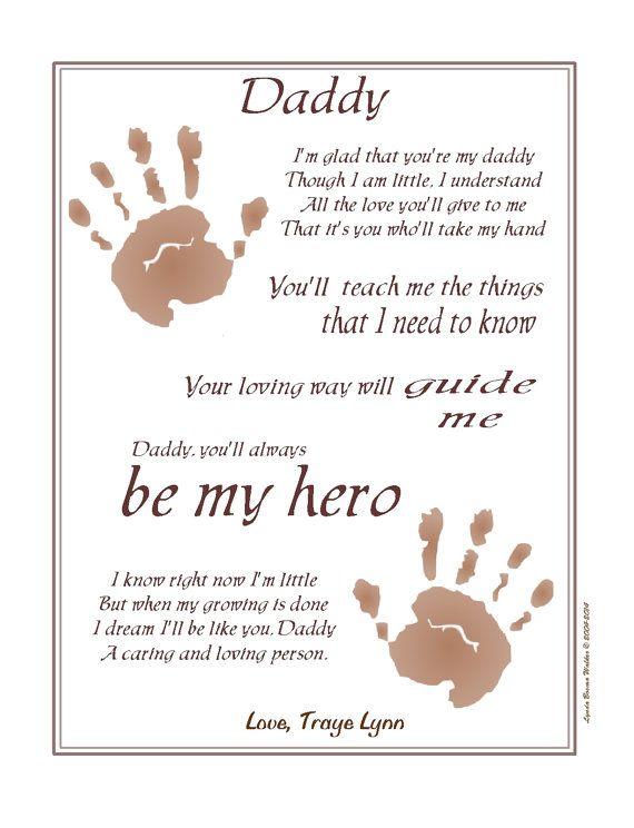 Always My Hero Take My Hand Daddy 169 Poem Baby Child