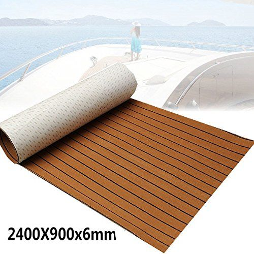 Foammaker Non Slip Boat Flooring Decking Pad 6mm Thickness Eva Foam Faux Teak Marine Mat Review Teak Brown And Grey Deck