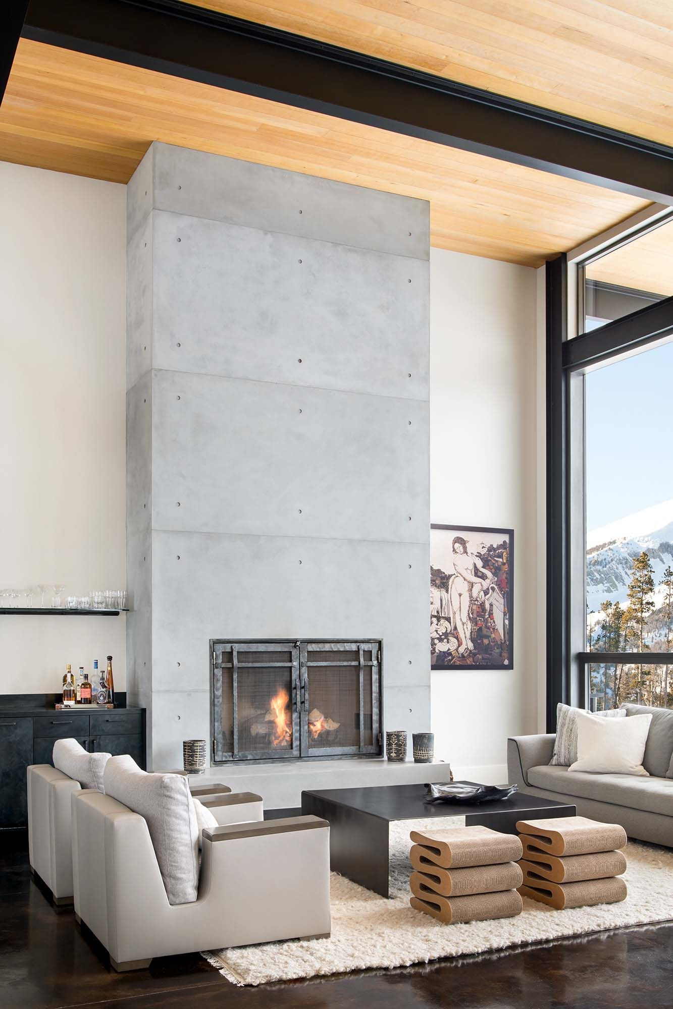 Modern mountain home boasts chic and stylish living in Montana ...