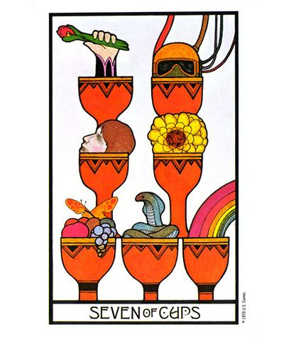 Aquarian Tarot: 7 of cups. Creative manifestation card. | Tarot ...