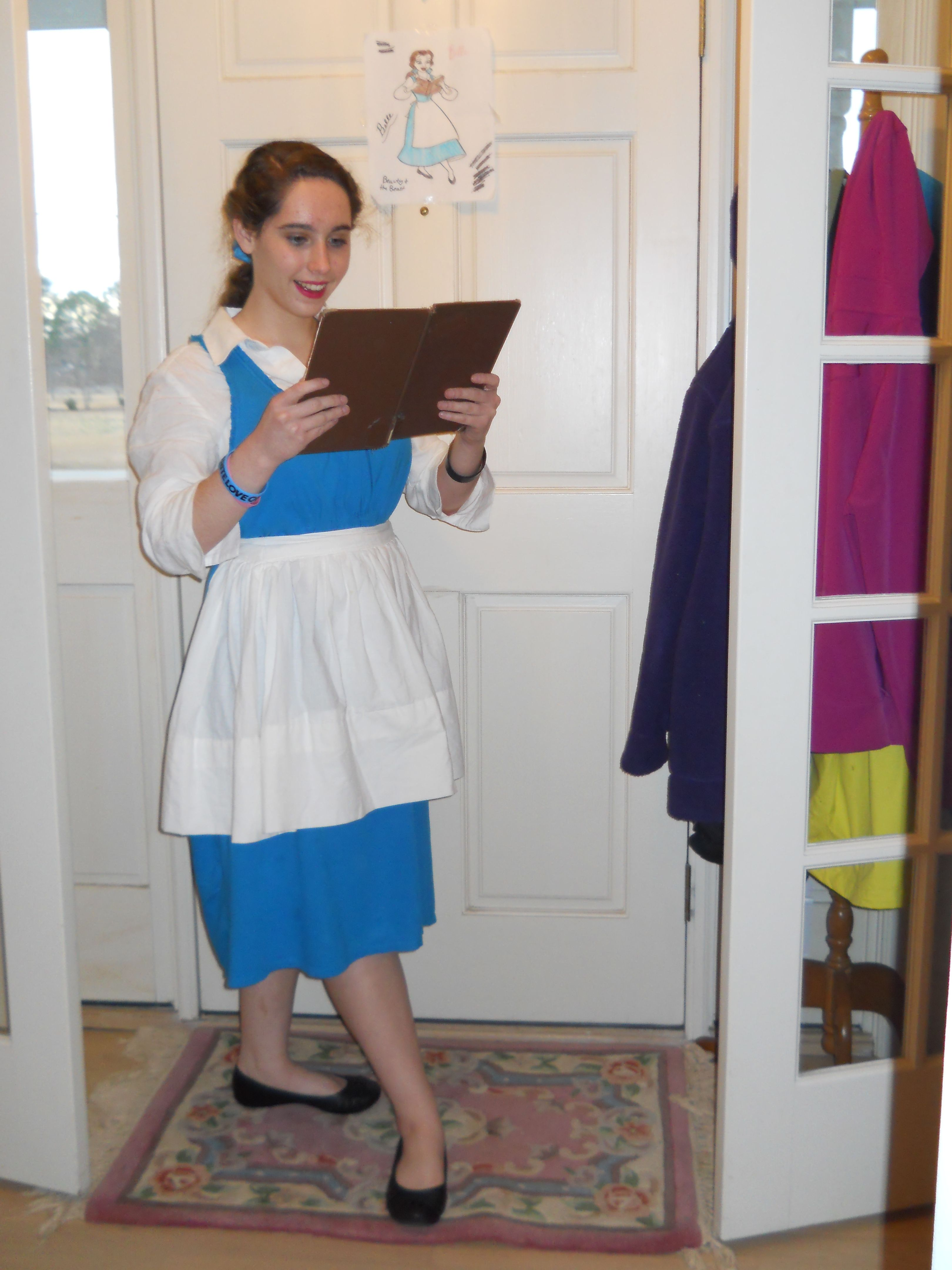 White apron belle - I Did This For Fairy Tale Day For Spirit Week At My School I Am Belle This Is