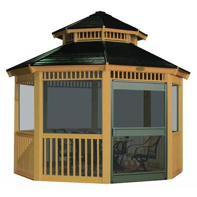Suncast Gazebo Screen Kit 12 Feet Home Depot Canada Screened Gazebo Kits Screened Gazebo Gazebo