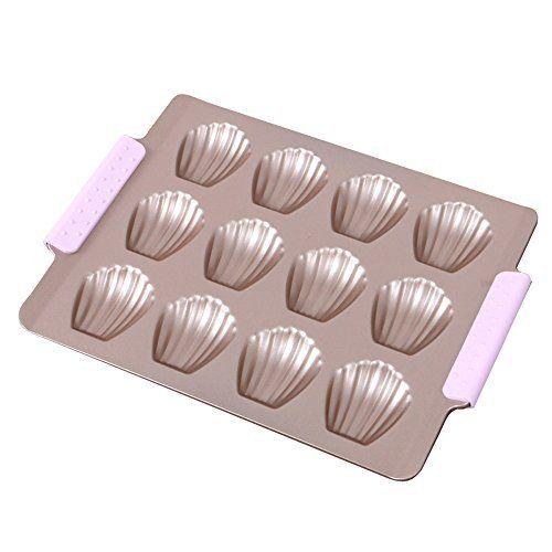 Lifestar Seashell Non Stick Carbon Steel Cake Molds Baking Pan Madeleine Cake Pan 12 Cup Madeleine Cake Cake Mold Cake Pans