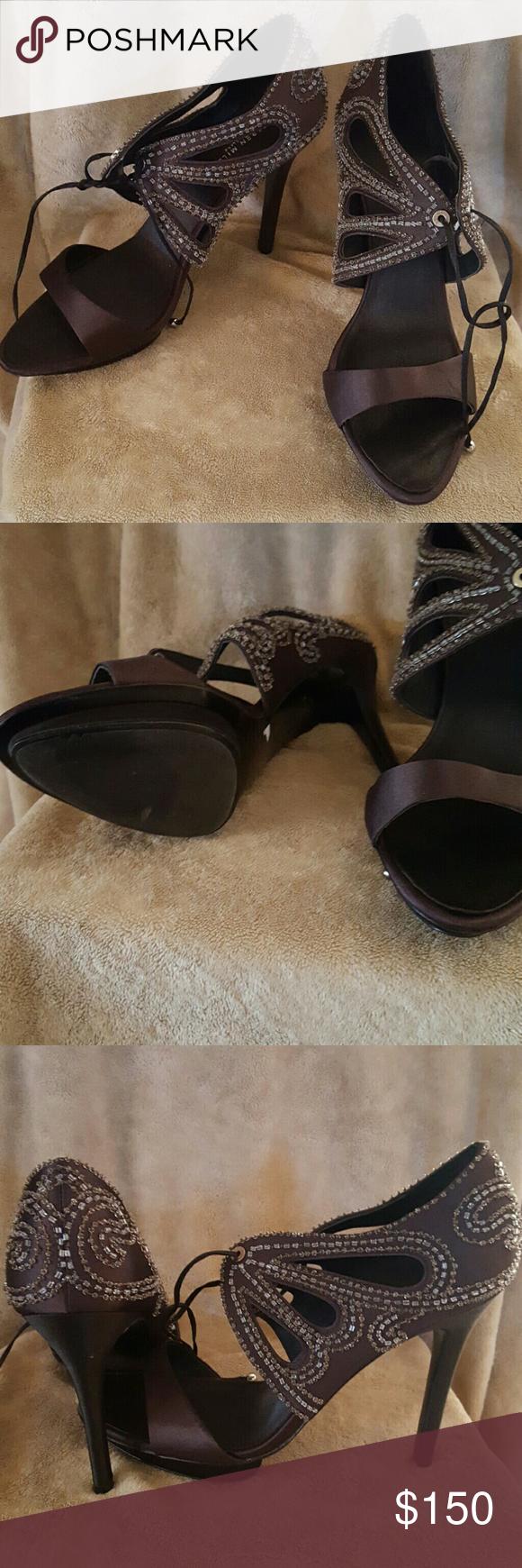 Never used. Excellent condition Beaded shoes. Never worn Karen Millen Shoes Heels