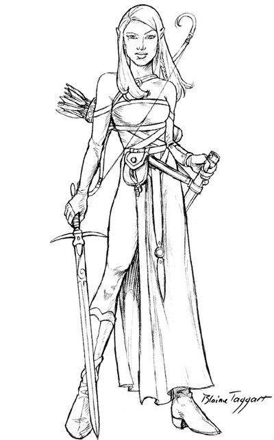 Line Art For Coloring : Tess by staino on deviantart coloring pages pinterest
