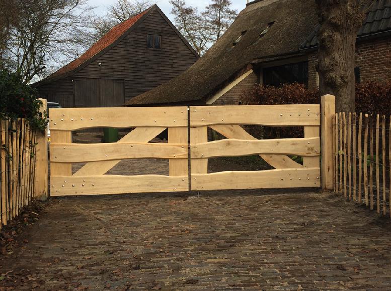 Eikenhouten hek lk33 houten hek royal fence pinterest hek tuin en poorten - Meubelen cottage berg ...