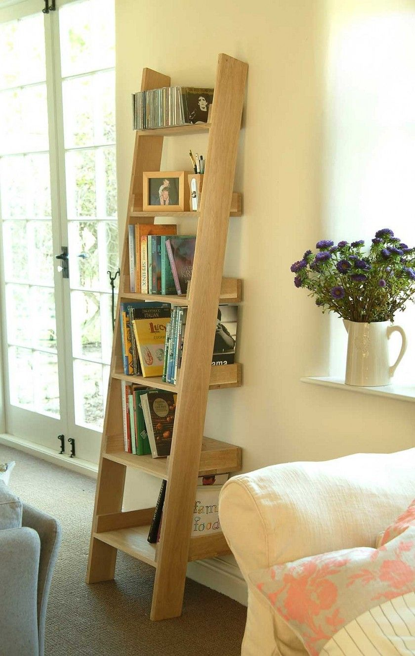 Furniture, Awesome Rustic Ladder Shelf As Home Closet Storage Ideas ...