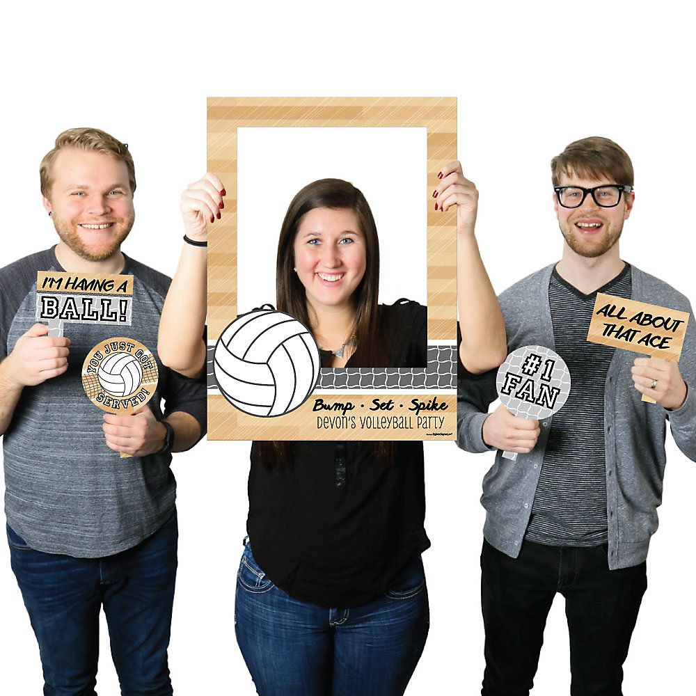 Bump Set Spike Volleyball Personalized Birthday Party Or Baby Shower Photo Boot Volleyball Birthday Party Photo Booth Picture Frames Robot Birthday Party