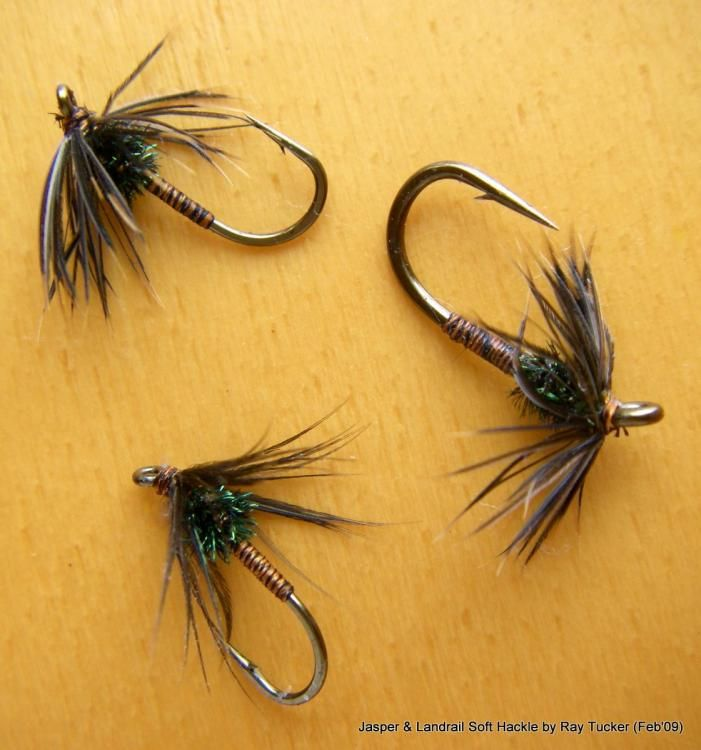 Choice of Sizes Wet Trout Flies For Fly Fishing 6 Pack Grouse and Orange