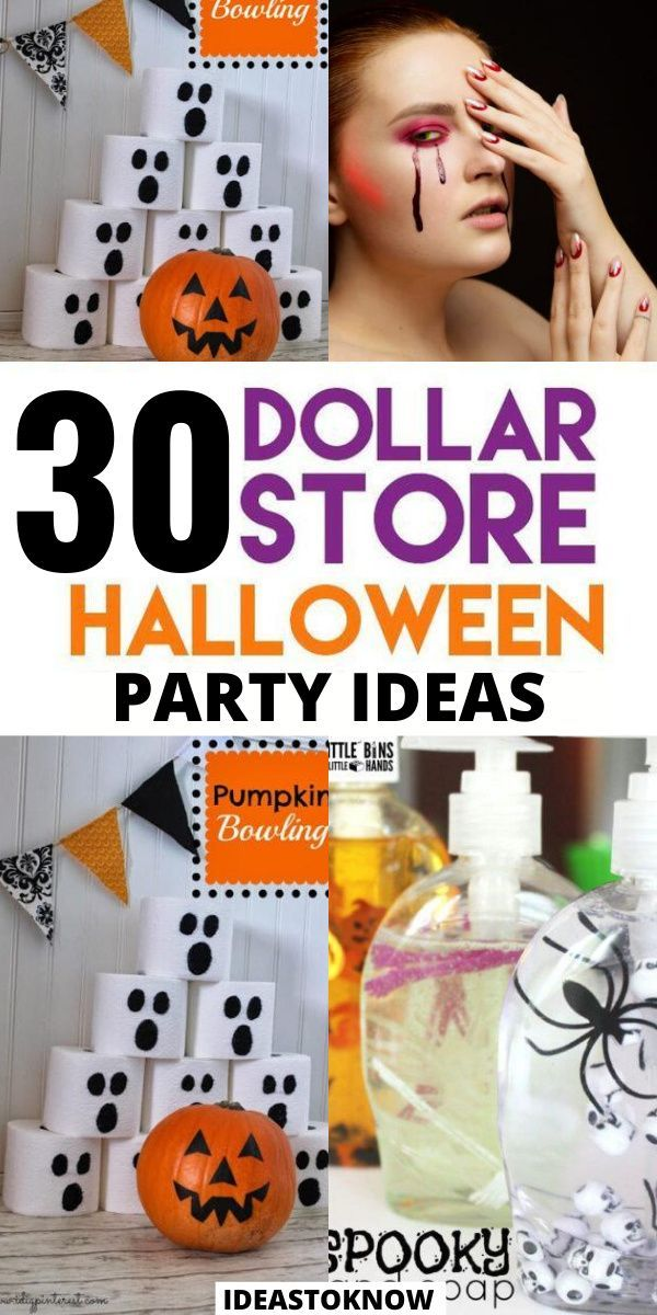 31 Dollar Store Halloween Party Ideas in 2020 Easy
