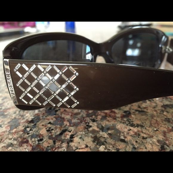 Versace frame for sun glasses. Frame only, lenses seen in picture are my prescription. Versace Accessories Sunglasses