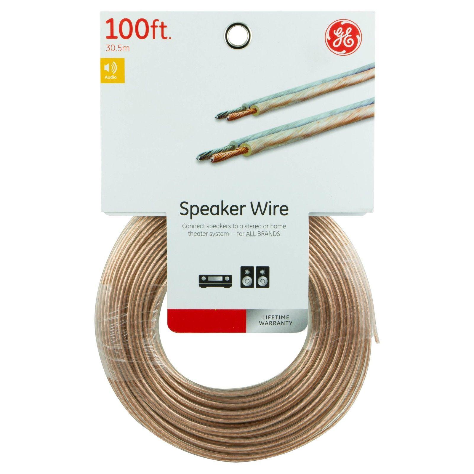 G.E. 100 ft. 18 Gauge Speaker Wire for All Brands | Common Shopping ...