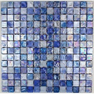 Mosaique Carrelage Verre Plaque Mosaique Douche ZENITH BLEU - Plaque mosaique salle de bain