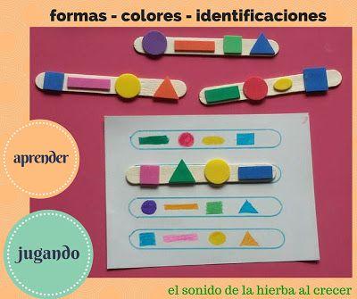 Formas Y Colores A Ordenar El Sonido De La Hierba Al Crecer Actividades Montessori Actividad Para Niños Pequeños Actividades