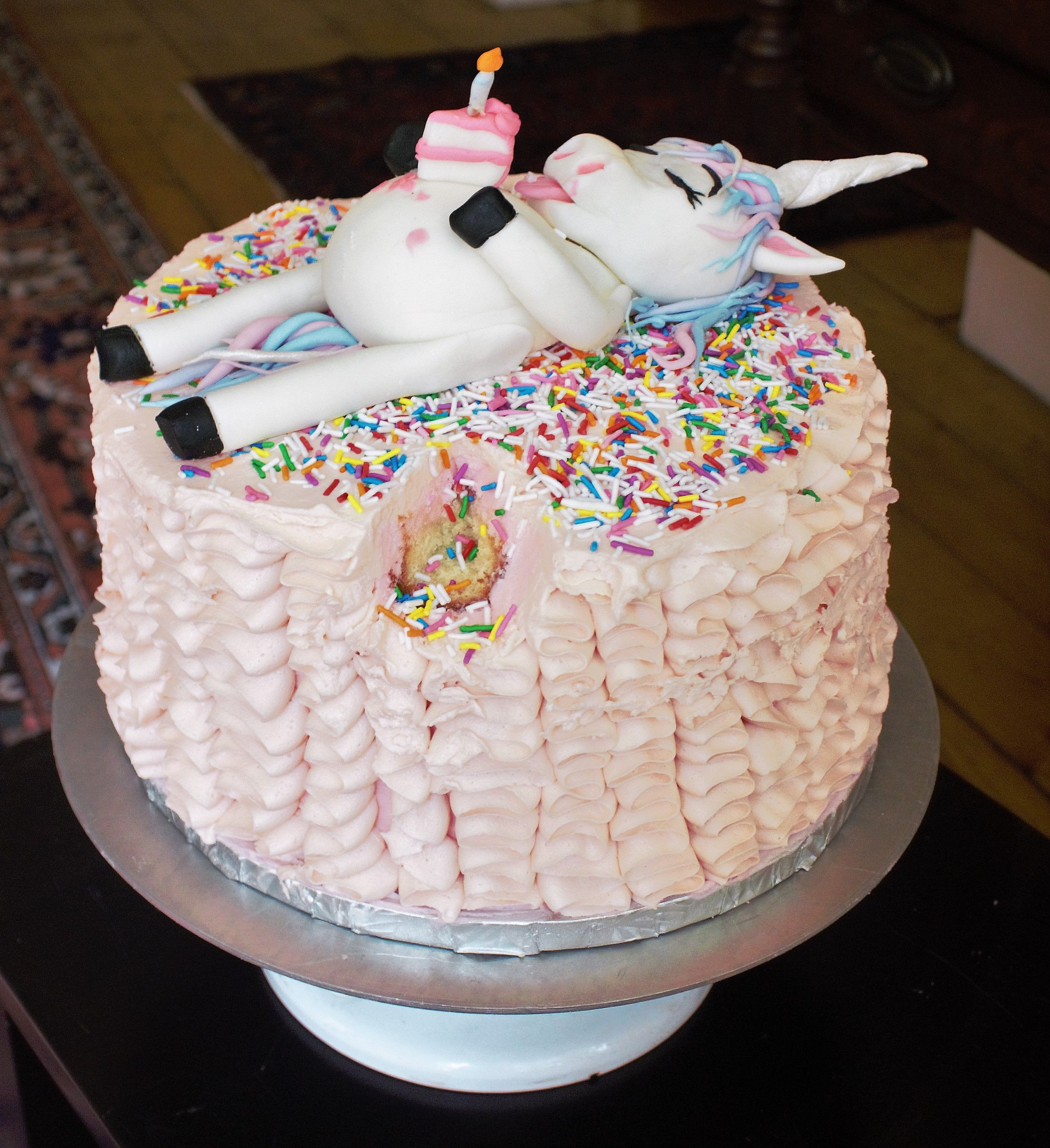 Pink Fat Unicorn Cake From Thegilded Lily Cake In 2019