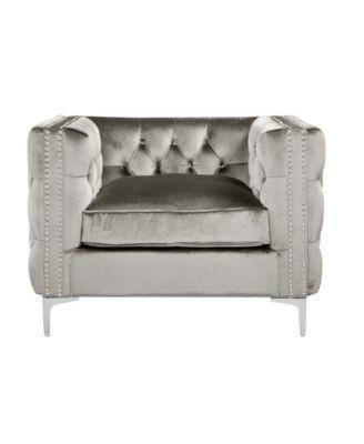 Chic Home Da Vinci Club Chair Over Max Gray Mattress