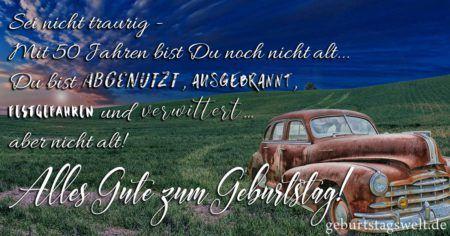 llᐅ Zum 50. Geburtstag - Sprüche, Glückwünsche und ...