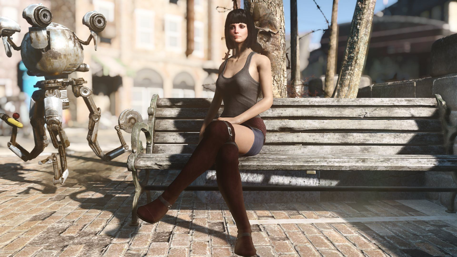 CBBE Simply Clothes for Female with BodySlide at Fallout 4