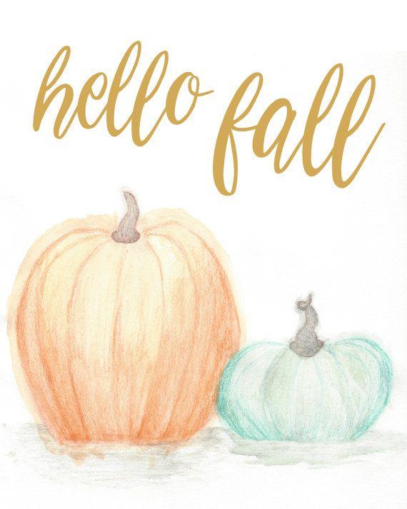 Hello Fall Printable / Fall Printable / Autumn Decor