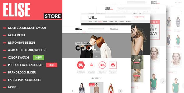 Elise - Fashion WooCommerce WordPress Theme . Elise has features ...