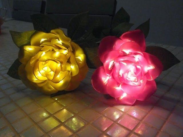 Moja Wytworczosc Kurs Na Lampion Roza Z Plastikowych Lyzeczek Paper Lamp Novelty Lamp Lamp