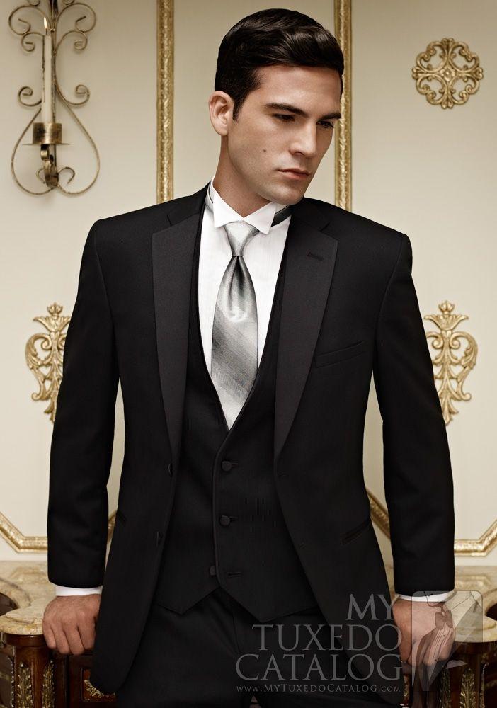 Black Stripe \'Ridge\' Tuxedo from MyTuxedoCatalog.com | Prom Tuxedos ...
