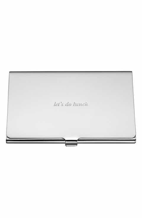 Kate spade new york lets do lunch business card holder office home office stationery business card holders colourmoves