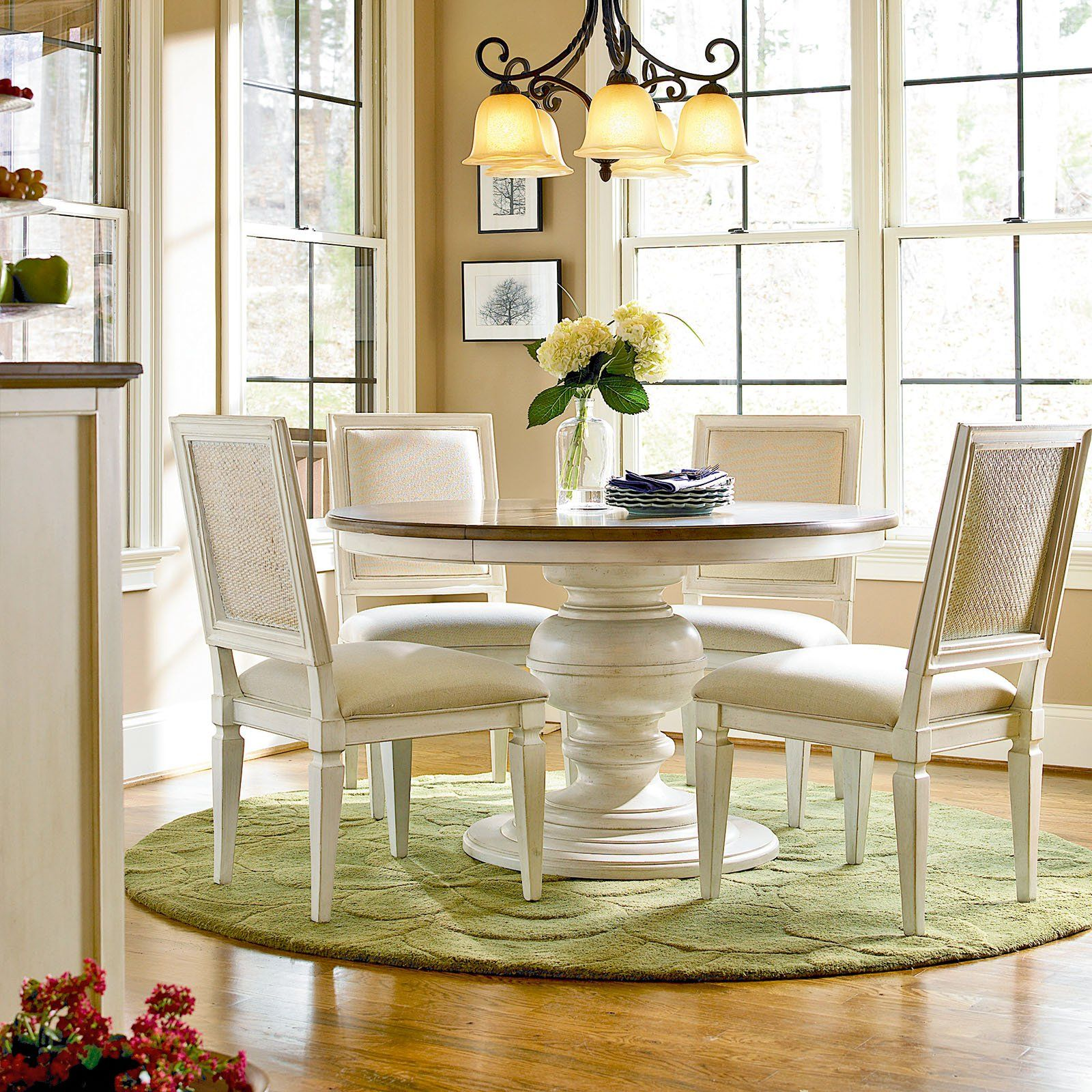 Have to have it summer hill piece pedestal dining set cotton