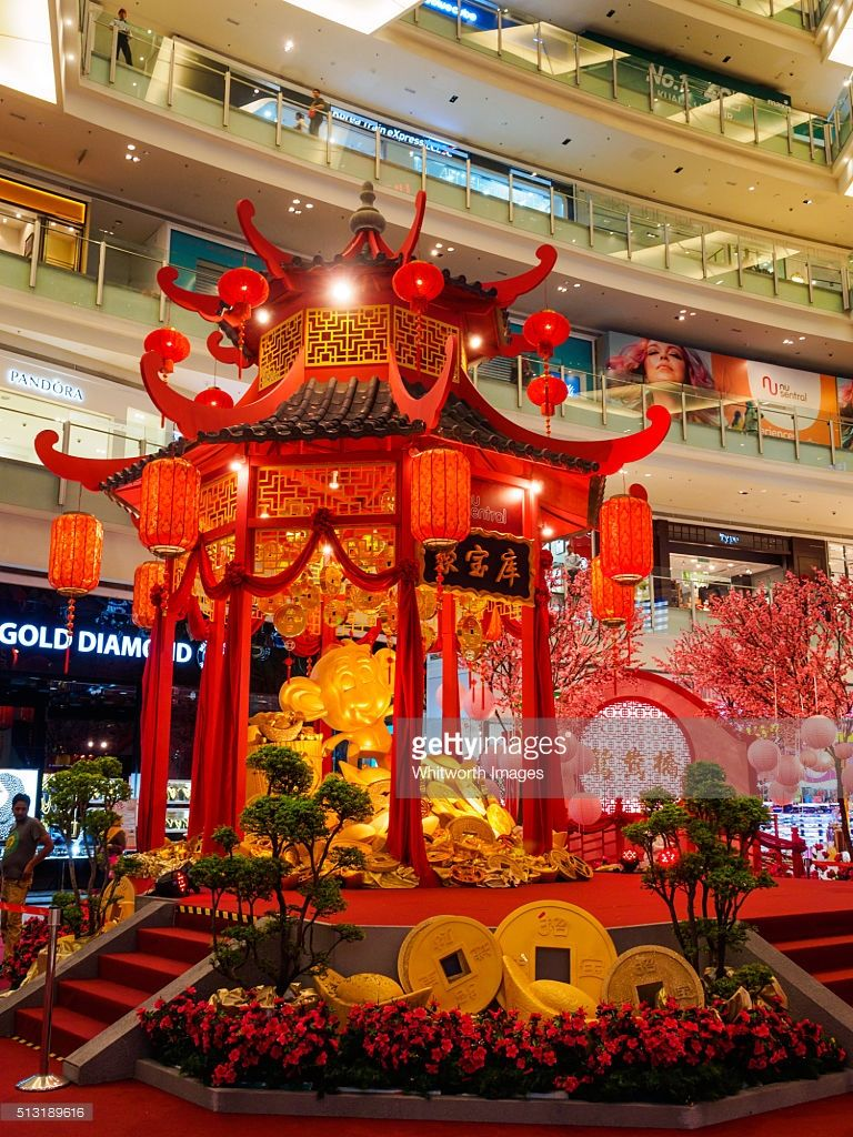 Shopping mall decorates Lunar New Year festival_1 Trang trí