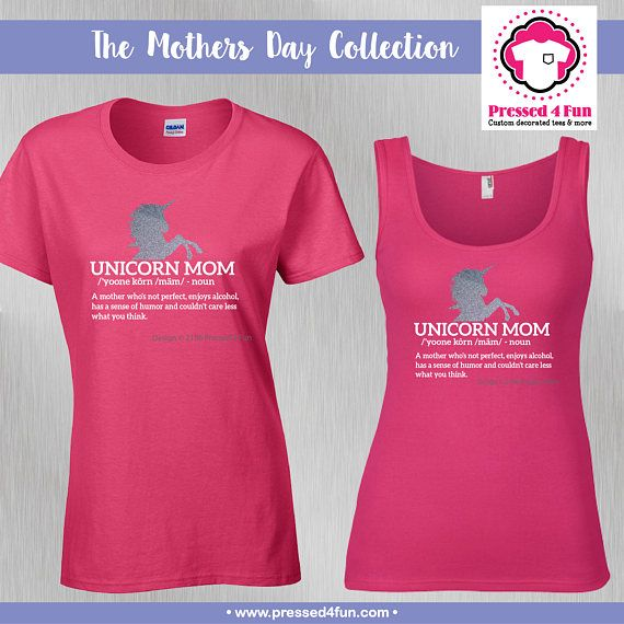 6792921e Mother's Day Shirts: Unicorn Mom Design • Mother's Day Tank • Mother's Day  Tee