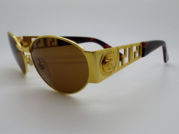 c522012896 Rare Vintage  Gianni Versace  Medusa Sunglasses - Mod S38 Col 030 Brand  Gianni  Versace Vintage Type  True Vintage Conditions  New Old Stock Gender  Unisex  ...