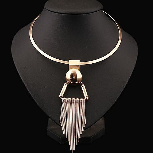 1808a9e2322e Mujer Forma de Círculo Moda Joyería Destacada Europeo Gargantillas Collares  Declaración Plata de ley Legierung Gargantillas Collares 2018 -  6.99