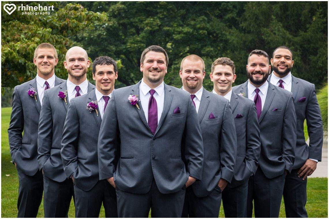 6f3f244fcb8 Groom and groomsmen attire-- gray and purple color scheme