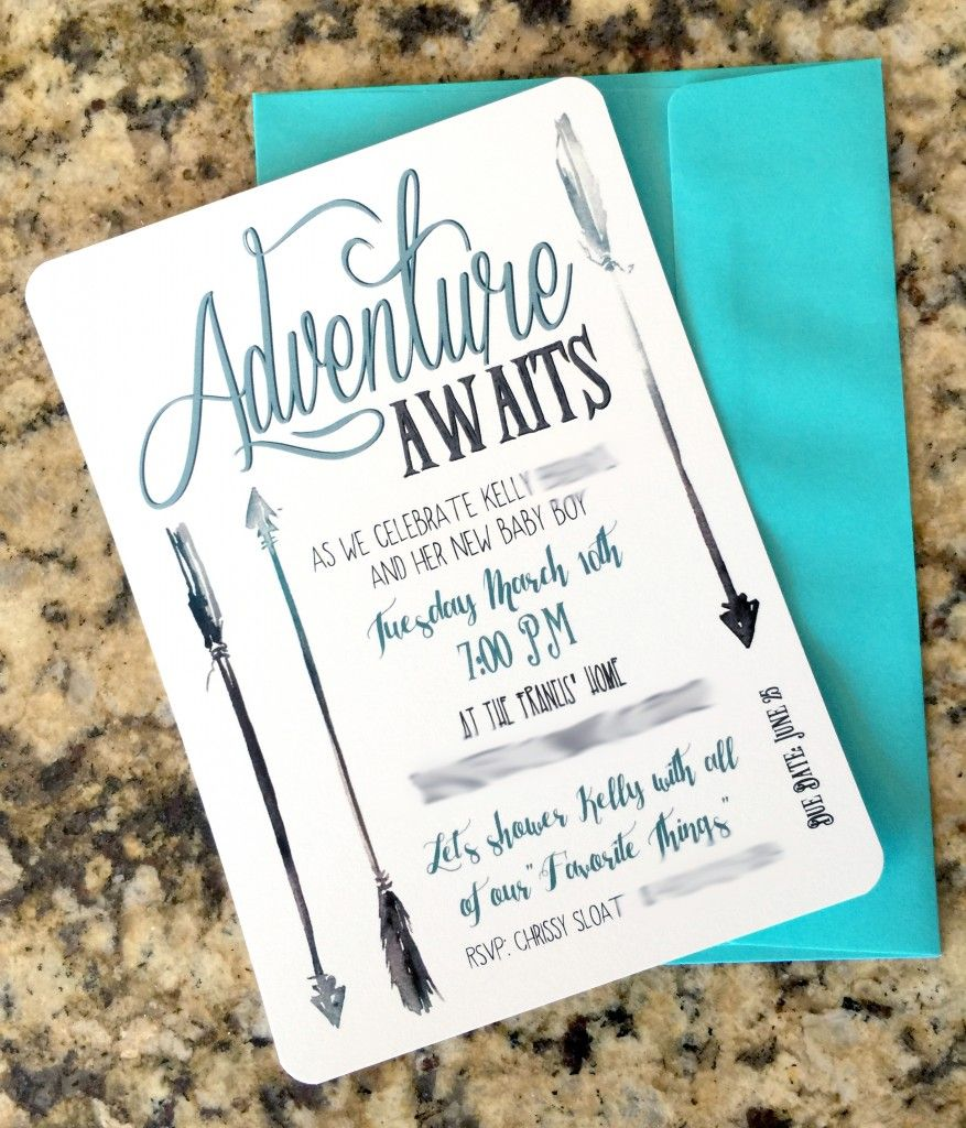 Perfect Cute Idea For Boy Baby Shower Invites. Woodland Or Adventure Themed