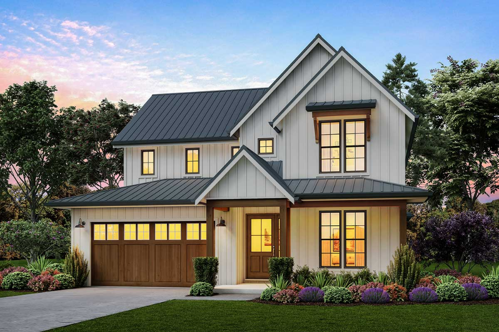 Plan 69745am 3 Bed Modern Farmhouse Plan With Vaulted Great Room In 2020 Modern Farmhouse Plans Contemporary House Plans Farmhouse Plans