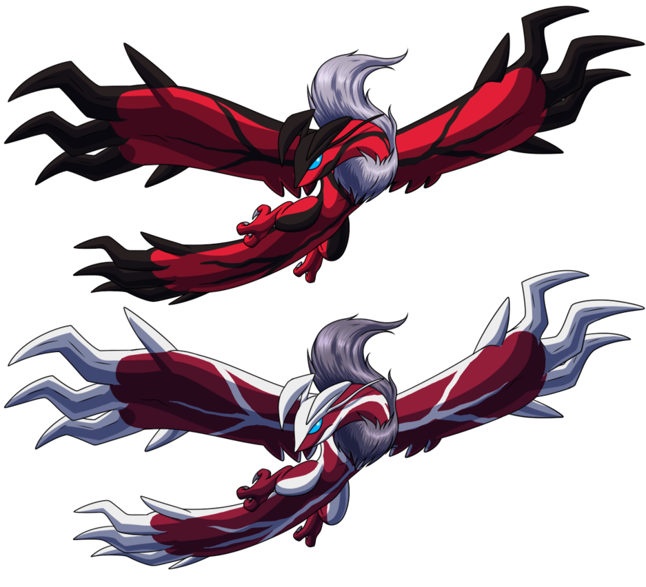 Shiny Yveltal, otherwise known as flying bacon. Epicness ...