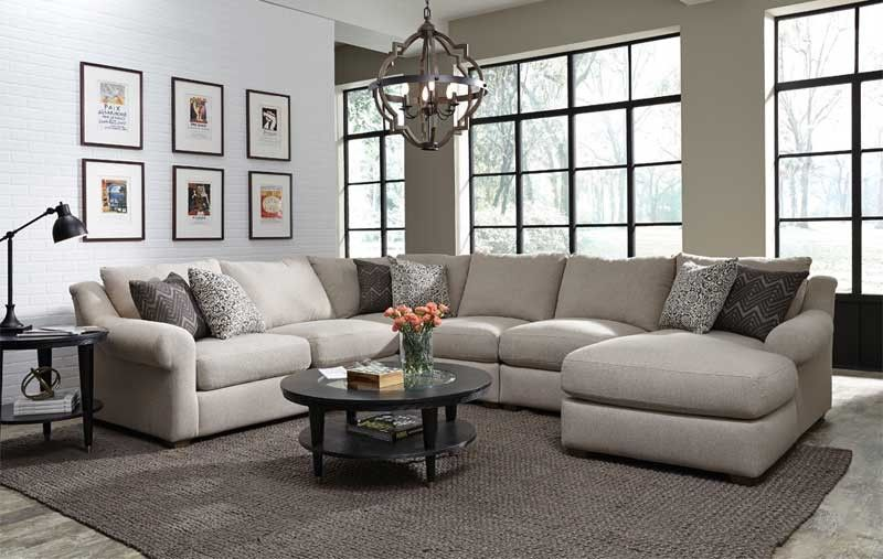 Franklin Furniture Ellie Stationary Sectional In Stone 891