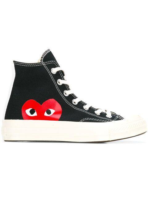 e1340b77cf6 COMME DES GARÇONS PLAY Logo Print Hi-Tops. #commedesgarçonsplay #shoes  #hi-tops