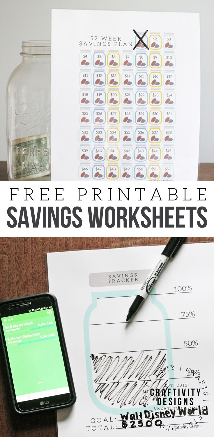 Organize Your Finances With A Free Savings Tracker  Organizing