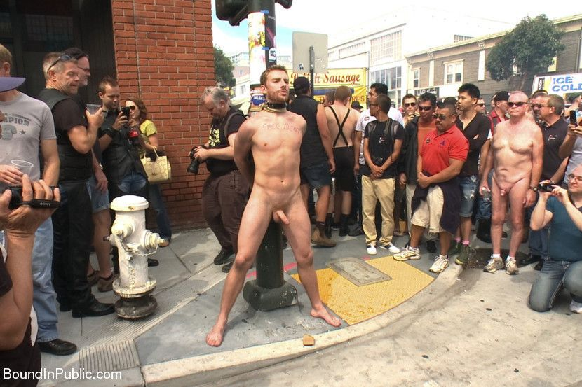 Street and men nude