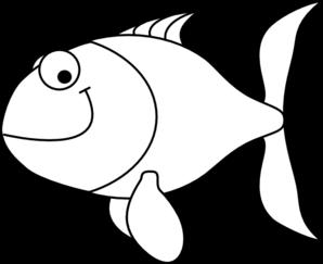 Fish outline cartoon. Clip art for cub